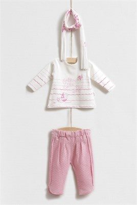 Sea Kız Bebek 3lü Sweat Set
